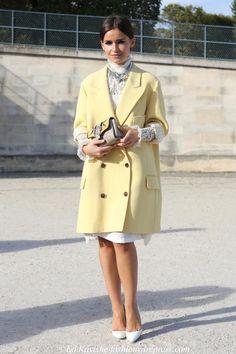 Miroslava Duma <3 delicate details with a perfect pastel coat