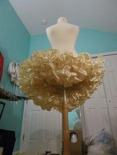 Sewing ruffles for petticoat