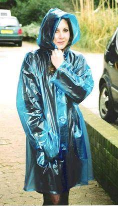 Raincoats For Women April Showers Product Vinyl Raincoat, Blue Raincoat, Raincoat Jacket, Plastic Raincoat, Hooded Raincoat, Hooded Cloak, Plastic Pants, Black Rain Jacket, Plastic