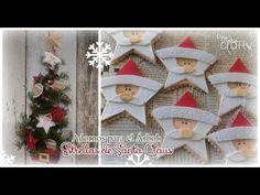 Adornos para el arbol: Estrellas de Santa Claus | Manualidades