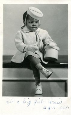 Real Photo PC Cute Little African American Black Girl in Fashionable Outfit | eBay