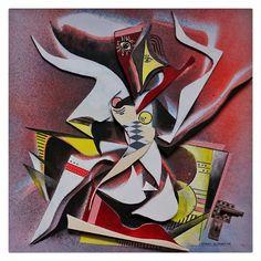"""""""ekstase"""", 2016, februar, 50x50, leinwand, holz, farbe, collage, w.schieweck"""