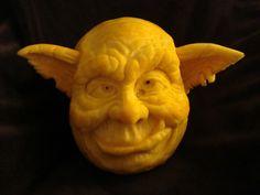Orc - citrouille sculptée - pumpkin carving