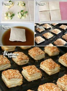 Crispy Puff Pastry Bagel Recipe (Video) - Recipes for Women, Pastry Recipes, Cooking Recipes, Cake Recipes, Cakes Originales, Pizza Pastry, Bagel Recipe, Puff Recipe, Tasty, Yummy Food