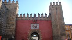 #monogramsvacation - Real Alcazar, Royal Palace in Seville, Spain.  It is the oldest royal palace still in use in Europe.  The lion's gate, the main entrance.