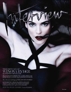 Winona Ryder on the cover of Interview magazine