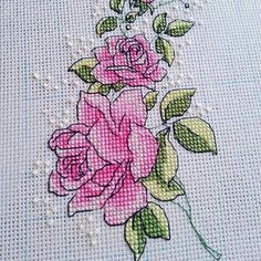 Beautiful stitching, love the soft and darker pinks.