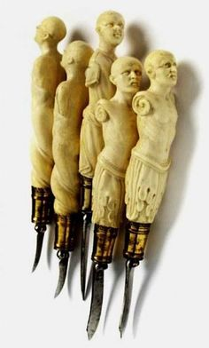 Interesting → A magnificent set of Surgical Instruments, German, ca 1600, in ivory and silver gilt.
