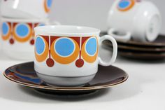 vintage German porcelain cups & saucers by H is for Home, via Flickr