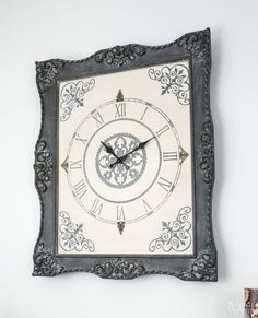 in the frame no 5 ornate frame to wall clock, chalk paint, how to, repurposing upcycling, wall decor