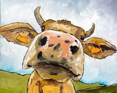 Irish Design farmed in Ireland by IrishFarmArt on Etsy Irish Design, Cow Art, Ireland, Pikachu, Moose Art, Unique Jewelry, Handmade Gifts, Animals, Fictional Characters