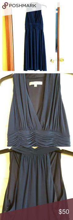 Navy Blue Dress Navy blue sleeveless dress. A-line. Evan Picone Dresses Midi
