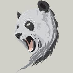 angry panda illustration - Google Search