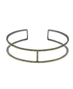 bracelete de luxo geometrico com banho de rodio e zirconias semi joias da moda