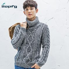 >> Click to Buy << High-necked sweater 2016 Winter New Korean Men's Jacquard Sweater Thick Sweater Loose men's Sweater Comfortable  MK547 #Affiliate