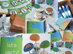 Dinosaur Birthday Party Package Children for 12 by BusyChickadees,