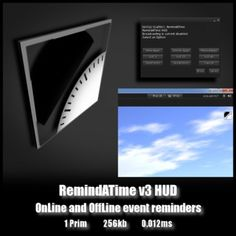 RemindATimeV3 HUD - OnLine and OffLine event reminders
