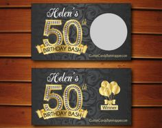 Gold Diamond Birthday Invitation  Black Damask by AnnounceItFavors