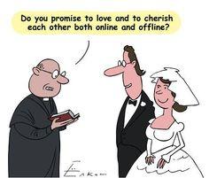 Wedding vows in the digital age #weddings #humor