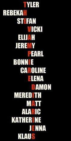 All their names spell Vampire Diaires