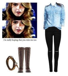 """""""Malia Tate - tw / teen wolf"""" by shadyannon ❤ liked on Polyvore featuring NOVICA, Hinge and Frye"""