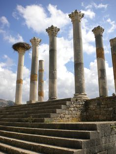 Beautiful Volubilis Ruins. Oldest Roman Ruins in North Africa. Morocco