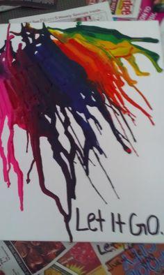 DIY Melted Crayon Art...Was Very FUN!