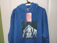 The North Face Authentic Big Man Blue Coldest Peak Hoodie 2XL NWT Quick Ship #TheNorthFace #Hooded