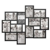 White Wall Collage Frame With Twelve 4x6 Inch Openings 12 Opening White Collage Photo Picture Frame Adeco Mdf Collage Picture Frames Collage Frames Picture Frames