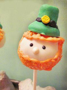 Leprechaun cake pops!  http://greatideas.people.com/2014/03/12/saint-patricks-day-desserts-cocktails-recipes/