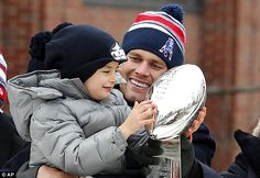 Tom Brady during Patriots parade in Boston after Super Bowl win #dailymail