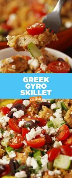 Gyro Skillet This Greek Gyro Skillet will feed your whole crew. Get the recipe at .This Greek Gyro Skillet will feed your whole crew. Get the recipe at . Healthy Eating Tips, Healthy Recipes, Healthy Nutrition, Greek Gyros, Skillet Meals, Skillet Recipes, Greek Recipes, Light Recipes, One Pot Meals