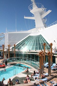 Relax at the Solarium on Liberty of the Seas. #cruise Pinned from Royal Caribbean International
