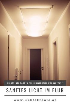 You would like to light a long corridor with a canvas or beautify existing fluorescent beams with a blanket sail cloth? Buy in the light accents lamps online store. by lichtakzente Long Hallway, Hallway Lighting, Ceiling Chandelier, Contemporary Chandelier, Co Working, Corridor, Beams, Mirror, Home Decor