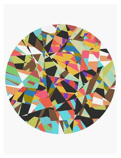 Geometric and Vibrant Abstract Art Print 11 x 14  by makinglines, $45.00