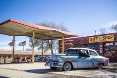Route 66, retro style, vintage cars in USA. ANIA W PODRÓŻY travel blog and photography