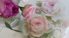 Roses in watercolor: T-says wow Watercolor Video, Watercolour Tutorials, Watercolor Flowers, Watercolor Paintings, Watercolor Lesson, Flower Paintings, Portraits Pastel, Crafts With Pictures, French Chic