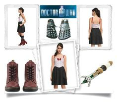 """Dr. Who Dress"" by jeneric2015 ❤ liked on Polyvore featuring Dr. Martens, women's clothing, women, female, woman, misses and juniors"