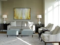 Boston living room with luxurious finishes, texture