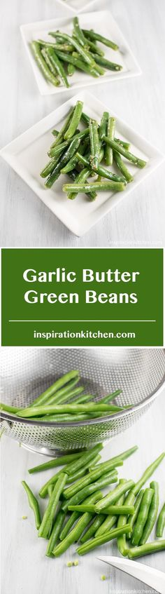 These Garlic Butter Green Beans are fast and easy to make and on the table in less than 20 minutes. Grilled Broccoli, Vegetable Seasoning, Vegetarian Paleo, Garlic Butter, Healthy Recipes, Healthy Foods, Vegetable Recipes, Green Beans, Side Dishes