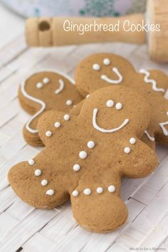 These classic gingerbread cookies are perfect for the holidays!