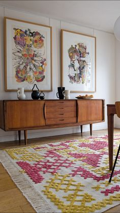 Fab credenza great art work cool rug