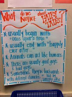Fairy Tales Anchor Chart by leona