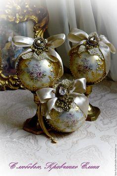 """Купить Набор елочных шаров """" Золотое сияние"""" - золотой, золотые шары, шарики на елку"""