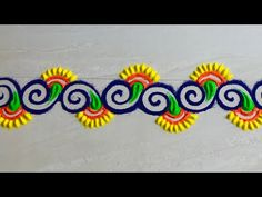 Rangoli Designs Simple Diwali, Rangoli Side Designs, Rangoli Simple, Rangoli Designs Latest, Rangoli Borders, Free Hand Rangoli Design, Rangoli Patterns, Small Rangoli Design, Rangoli Ideas
