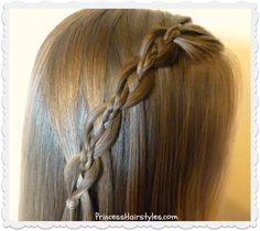 Waterfall chain braid with micro braid accent