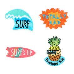 Need a little summer swag for your bag? Or jacket? Or vest? Check out these too-cool-for-school ones by Mokuyobi Threads