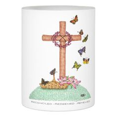 Wooden Cross Loving Memory Flameless Candle