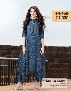 Have a look at the exclusive collection of designer Kurtis. Buy Fancy & Stylish Kurtis for Women at best price range. Size: L and XL Flaunt your style this summer with new arrivals. Your Daily Fashion Inspiration.Cash On Delivery Available.(for more details-click on pic)#Emegamartindia #kurti #kurtis #kurtidress #kurticrepe #kurtiindia #designerkurti #longkurti #summerhues #womenethnicwear #designerwear #summerfashion #indianfashion #indowestern #summerwear #indiancouture #indianstyle New Kurti Designs, Simple Kurti Designs, Kurti Designs Party Wear, Dress Neck Designs, Blouse Designs, Stylish Kurtis Design, Fancy Maxi Dress, Fancy Kurti, Kurti Styles