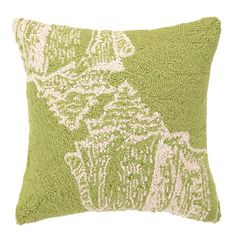 conch shell pillow | Seaside Inspired | conch shell pillow from SeasideInspired.com